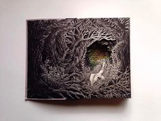 Old Books Transformed into Imaginative 3D Illustrations of Fairy Tale Scenes