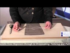 How to make professional Tailor Tacks in Seconds - YouTube