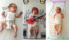 Dale un toque de phtoshop a las fotos de tu bebé y crea retratos tan chulos como estos