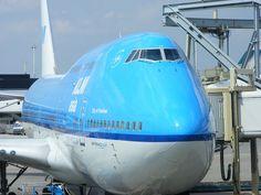 A KLM 747 at AMS.