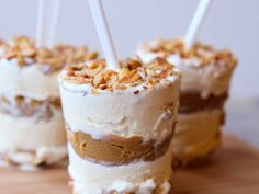Layered Peanut Butter Brittle Ice Cream Pops--these look amazing!!!!