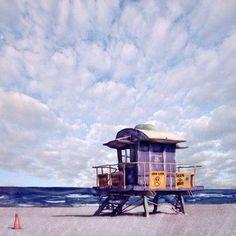 Vintage Miami Lifeguard Stand Art