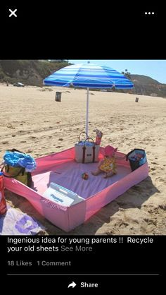 With a baby on the beach: 5 brilliant tricks for Mit Baby am Strand: 5 geniale Tricks für Eltern Too hot, too sandy, too dangerous? With these tricks and ideas you will have more fun with the baby on the beach and on vacation. Strand Hacks, Kids And Parenting, Parenting Hacks, Practical Parenting, Parenting Styles, Parenting Quotes, Baby Am Strand, Summer Fun, Summer Time