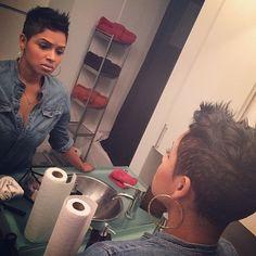 Did that!! @hair4kicks love this cut on @RaVaughn Brown ❤️| ✂️