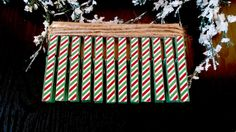 Christmas Card Garland Clothespin Kit Green by PurplePirateStudios