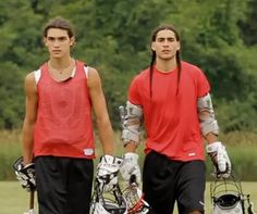 Michael Hudson (Mohawk) to the left, Tyler Hill (Mohawk) in Crooked Arrows