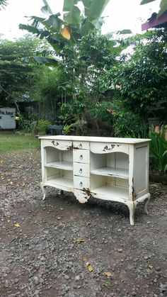 nightstand drawer six antique white
