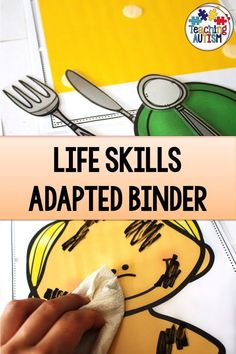 Your students will love working on their life skills with this adapted binder Students can work on a range of functional life skills in an engaging and handson way in your lesson LifeSkills Autism is part of Life skills special education - Preschool Life Skills, Life Skills Lessons, Life Skills Classroom, Life Skills Activities, Teaching Life Skills, Life Skills Kids, Preschool Schedule, Preschool Learning, Autism Teaching