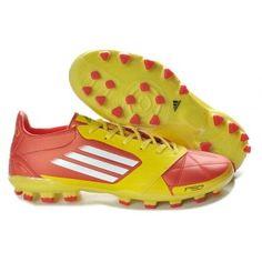 online retailer 7c7a2 7947e Adidas F50 adizero TRX AG cuir miCoach Bundle rouge jaune Nike Soccer Shoes,  Cheap Soccer