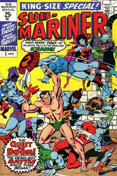 Sub-Mariner King-Size Special # 1 by Sal Buscema