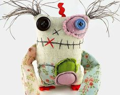 Personalized Gift for Her  Friendly Monster  Pink Monster