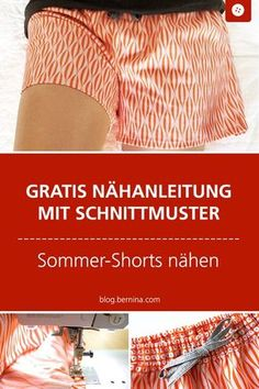 # Pattern # for # sewing pattern # sewing # summer shorts – Nähen Ideen Easy Sewing Projects, Sewing Projects For Beginners, Sewing Hacks, Sewing Tutorials, Sewing Crafts, Sewing Tips, Sewing Shorts, Sewing Clothes, Diy Clothes