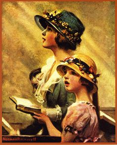 singing in church - by Norman Rockwell by x-ray delta one, via Flickr