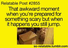 """Yup and this happened in """"The Woman in Black."""" everytime! and I screamed... (gif)"""