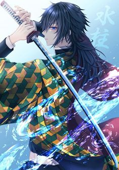 Tomioka Giyuu - Kimetsu no Yaiba - Image - Zerochan Anime Image Board Anime Boys, Otaku Anime, Cool Anime Guys, Anime Art Girl, Manga Art, Demon Slayer, Slayer Anime, Anime Films, Anime Characters