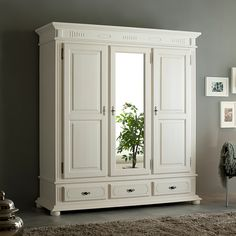 Beachcrest Home Aleena 3 Door Wardrobe - Schrank Cupboard Design, Wardrobe Furniture, Room Decor, Decor, Bedroom Decor, Beachcrest Home, Shabby Chic Bedrooms, Home, Home Decor