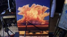 Acrylic Painting Lesson Preview - How to paint a cumulonimbus sunset cloud - acrylic painting lessons online - Download this lesson here: http://nagualero.com/cumulonimbus-sunset  #acrylicpaintinglessons