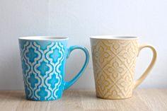 Morrocan Pattern Ceramic Mug by twomoonsandhannais on Etsy