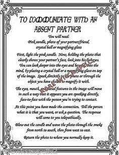 Communicate w/Ur Mind Spell fr Wicca Book of Shadows Pagan Witchcraft Ritual Holy Water Recipe, Pagan Witchcraft, Wiccan, Dream Spell, Fate Destiny, Wish Spell, Le Tarot, Healing Spells, Printed Pages