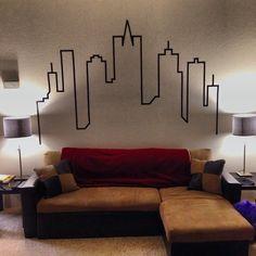 How to Create a City Skyline Wallart