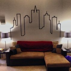 How to Create a City Skyline Wallart