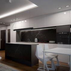 Kitchen design in Warszawa, POLAND - archi group. Kuchnia w mieszkaniu w Warszawie.
