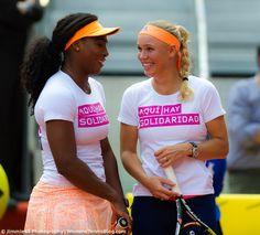 The friendship of Serena Williams and Caroline Wozniacki #WTA #MMOPEN15