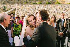 Elegant Chic, Wedding Moments, Outdoor Ceremony, Mykonos, Chic Wedding, Real Weddings, Destination Wedding, Most Beautiful, Kiss