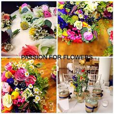 More picture from Amy's wedding #asap2014 #weddingflowers #wedding #bouquet #ohmeohmy #buttonholes #bride #bridal #flowers #florist #passionforflowers picked from garden bridal posy bouquets