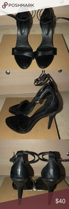 Zara basic collection sandal heels Black sandal heels Only worn twice Practically new, no scuff marks Zara Shoes Heels