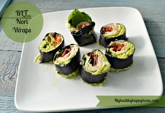 BLT Nori Roll Healthy Lunches, Healthy Breakfasts, Lunch Recipes, Paleo Recipes, Dairy Free, Gluten Free, Whole 30 Recipes, Paleo Diet, Sushi