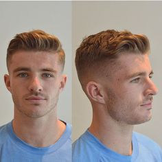 Mid to high fade texture side part