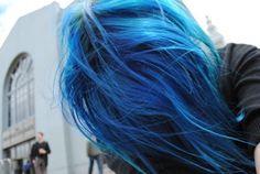 blue hair. *-* love it.
