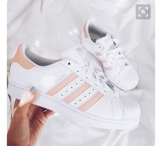 a121dee953fc shoes colorful white sneakers nude sneakers adidas adidas superstars pink  white pastel peach adidas shoes adidas