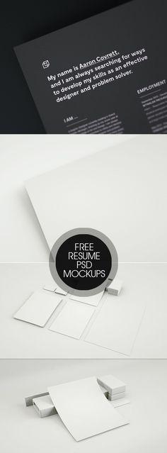 Free Resume Close-up Mockup PSD Template
