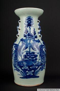 China 19./20. Jh. A Chinese Pale Celadon Glazed Vase Vaso - Cinese Chinois Qing