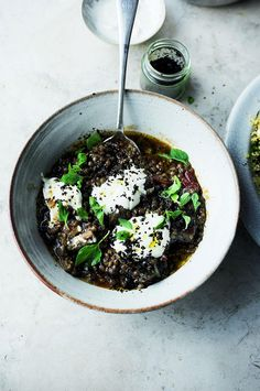 This soft, delicate stew of puy lentils and aubergine is taken from Yotam Ottolenghi's SIMPLE cookbook. It works perfectly as a starter, or as a main served with any grain. Ottolenghi Recipes, Yotam Ottolenghi, Lentil Stew, Lentil Salad, Moussaka, Midweek Meals, Easy Meals, Otto Lenghi, Side Dishes