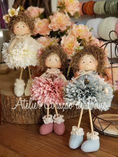Bonecas Doll Crafts, Diy Doll, Handmade Angels, Sewing Dolls, Fairy Dolls, Soft Dolls, Stuffed Toys Patterns, Doll Patterns, Doll Toys