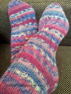 Knitted socks are the perfect Birthday present.  This blog has a great link for beginners.