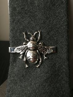 Fathers Day Gift From Daughter Bee Tie Clip Gift  Bee Mens