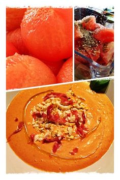 Salmorejo Soups And Stews, Thai Red Curry, Cantaloupe, Pure Products, Canning, Dinner, Fruit, Ethnic Recipes, Van