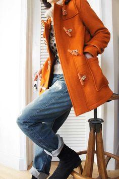 Nigel Cabourn Women ( ENGLAND ) CASHMERE DUFFLE COAT www.lancah.com