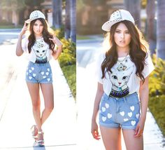 A look with some major cattitude!  (by Careese Q. of Lychee Style)