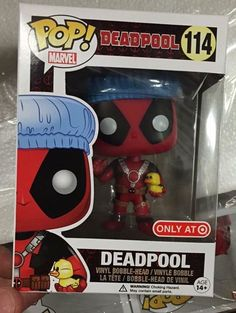 Deadpool with shower cap and rubber duckie Pop figure by Funko, Target exclusive