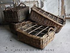 Wicker Baskets used for wine bottles