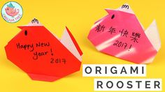 Chinese New Year Crafts - Easy Origami Rooster / Chicken for Kids, Class...