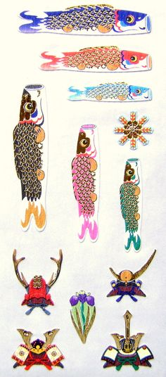 Japanese Stickers Carp Streamers Koi Nobori by FromJapanWithLove, $6.50