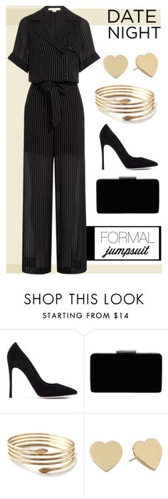 """jumpsuit"" by bluemerant ❤ liked on Polyvore featuring Gianvito Rossi, John Lewis, Kate Spade, Alexander Wang, DateNight and jumpsuit"
