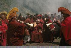 Photographies - Tibet - Matthieu Ricard - Dilgo Khyentsé Rinpotche - Moines - Monk - Monastery Shechen - Shechen Monastère