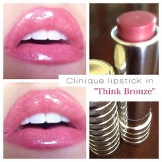 """Clinique Different Lipstick in """"Think Bronze"""" is not only a beautiful shade, but is lead and paraben free!"""